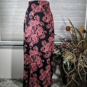 Black and Rose maxi skirt
